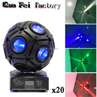 20pcs/lot 9x10w RGBW 4IN1 LED Football Moving Head Beam Light Led Dj Disco Stage Ball Light For Dj Party