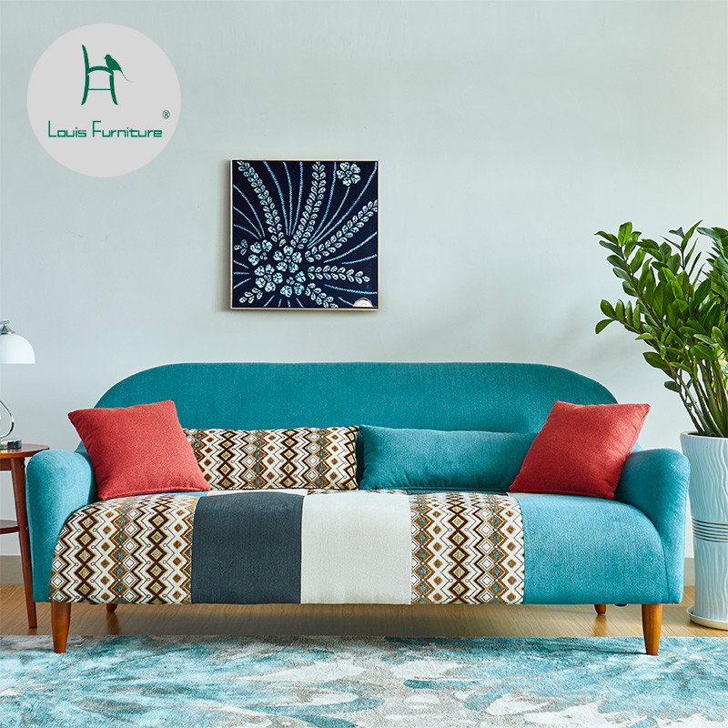 Living Room Furniture St Louis: Louis Fashion Living Room Sofas Small Apartment Nordic