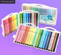 High Quality 18 24 36 Colors Set Water Based Ink Sketch Marker Bts Colorful Pen For