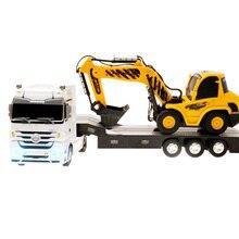 RC Truck Semi Trailer Long Hauler Vehicle Remote Control Bulldozer Platform Trailer Auto Tail Board Electronic