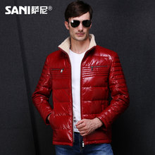 2016 Down Coat Genuine Leather Shell Clothing Male Genuine Leather Male Calf Skin Leather Clothing Man Outerwear Leather Jacket