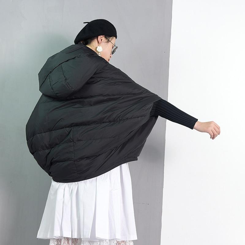 Capuchon Solide Le Couleur Grande À Lâche Jd024 Noir Mode Taille Black Femmes Chaud Manches Vers Printemps eam Longues Marée Bas Nouveau Manteau 2019 Veste Z8q0I0