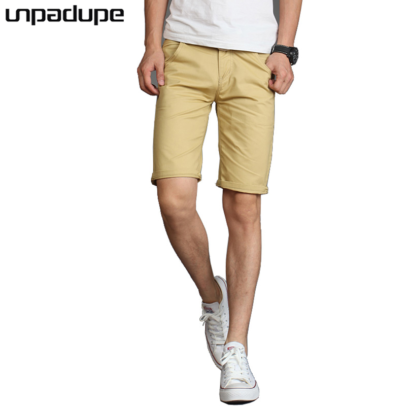 2018 Mens Shorts Casual Bermuda Brand Solid Color Wild Compression Male Cargo Shorts Men Linen Fashion Men Short Summer Linen 36