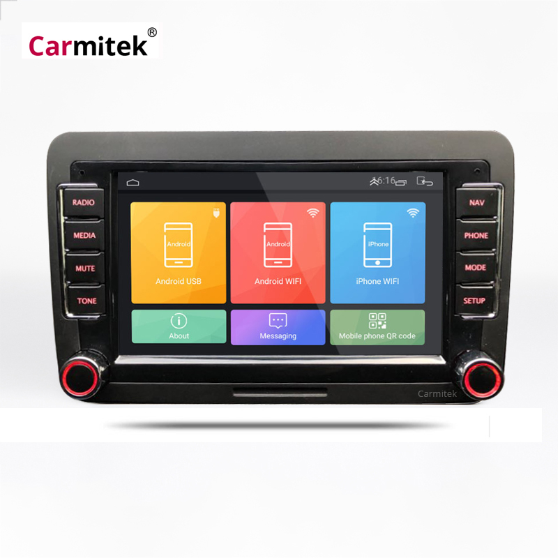 Car Multimedia Player Radio <font><b>Android</b></font> <font><b>2Din</b></font> For VW Volkswagen golf 4 5 6 gps navigation Passat b5 b6 b7 Stereo <font><b>Skoda</b></font> Octavia Tour image