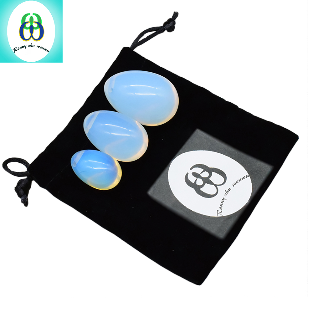 Ronny Zhu Wenwu Yoni Egg Opalite Ben Wa Ball Kegel Jade Eggs for Women Kegel Exercises Tightening Vaginal Balls Muscle Massage