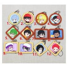 1.6 Inch Anime Keychain Kuroko no Basket Kagami Taiga Junpei Mitobe Members Pendant Keychain Llaveros Keyrings Portachiavi