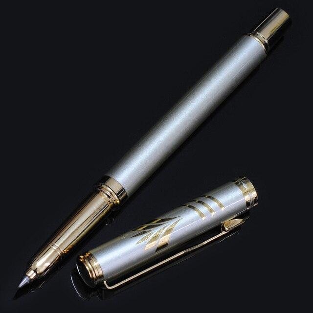 New Brand 0.5mm Metal Roller Ball Pen Luxury Ballpoint Pen for Business Writing Gift Office School Supplies Black Ink Refills 4