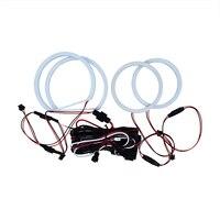1 SET (2X106mm+2X131mm) 6000K White Led Cotton Angel Eyes For BMW E90 3Series auto lighting