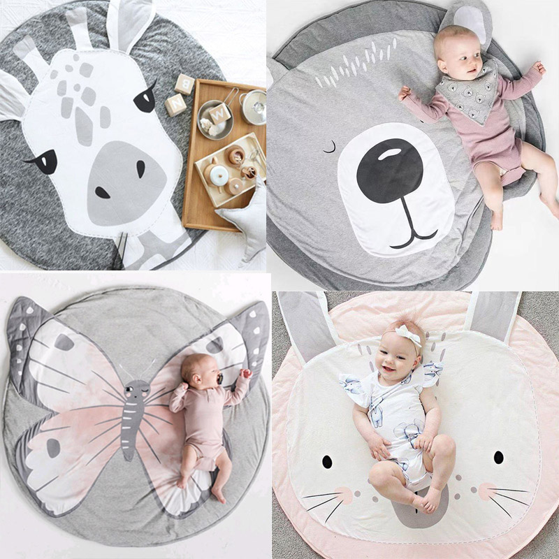 18 Styles Animals Print Childrens Crawling Mat Toy Game Mat Kids Crawling Carpet Floor Rug Baby Bedding Blanket Room DecorationPlay Mats   -