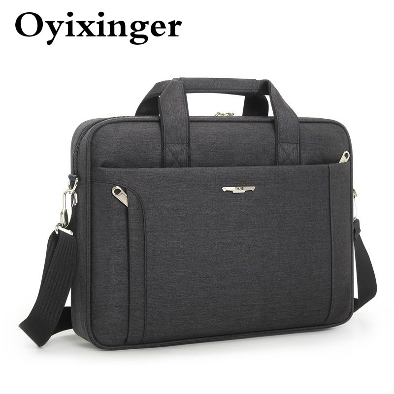 OYIXINGER Men Briefcase For 14 15.6 Inch Laptop Waterproof Oxford Men's Handbag Business Women Single Shoulder Messenger Bag Man