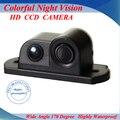 Novo 2 em 1 LED Som do Alarme de Backup Do Reverso Do Carro vídeo Sensor de Estacionamento Sistema de Radar com CCD Retrovisor Estacionamento câmera