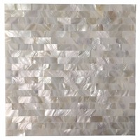 6 Shell Mosaic Tiles Peel and Stick Mother of Pearl Shell Tile for Kitchen Backsplashes, 12
