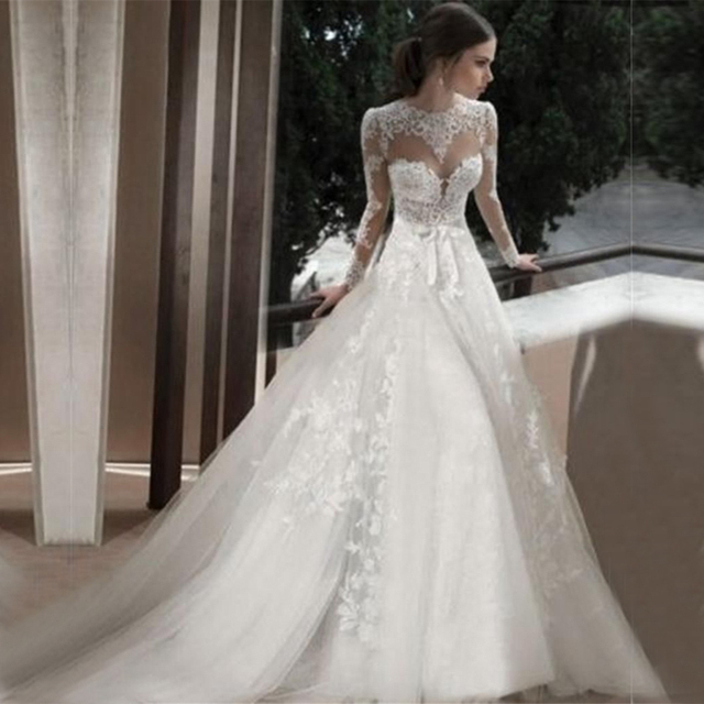 Us 177 0 High Quality Vintage Wedding Gowns China Sexy Open Back Hot Sale Classic Long Sleeves Wedding Dresses Lace 2016 In Wedding Dresses From