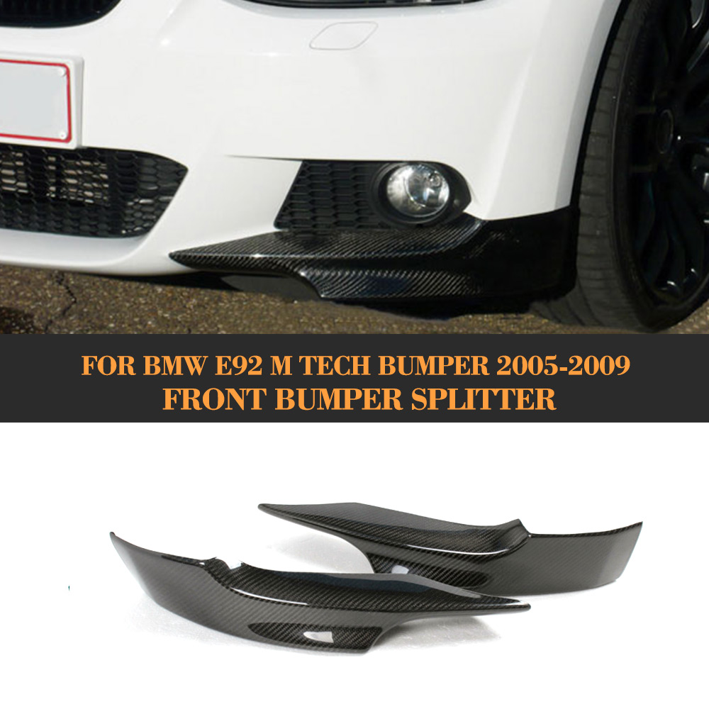 3 Series Carbon Fiber Front Bumper Splitter Apron for BMW E92 E93 M Sport Bumper 2005 2006 2007 2008 2009 for bmw 3 series e92 e93 carbon fiber front grille gloss black finish e90 e92 e93 m3 front bumper lip grille pre lci 2005 2008
