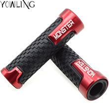 For Ducati MONSTER 695 696 795 796 797 821 1200 1200S 1100/S EVO 7/8 Motorcycle CNC Handlebar Hand Grips Bar End Gel Grip цена