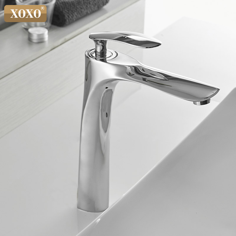 XOXO Basin Faucets Cold and Hot  Single Hole Mixer Tap Black White Gold Mixer Tap For bathroom Sink Taps 20055-1