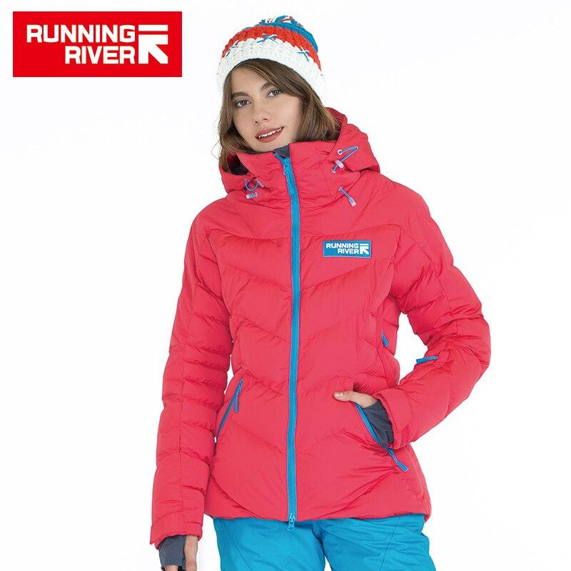 FIUME che scorre Marca di Alta Qualità Delle Donne di Sport Giù Giacca Invernale Caldo Escursionismo e Giacche Per Donna 5 Colori 6 Formati # D5144