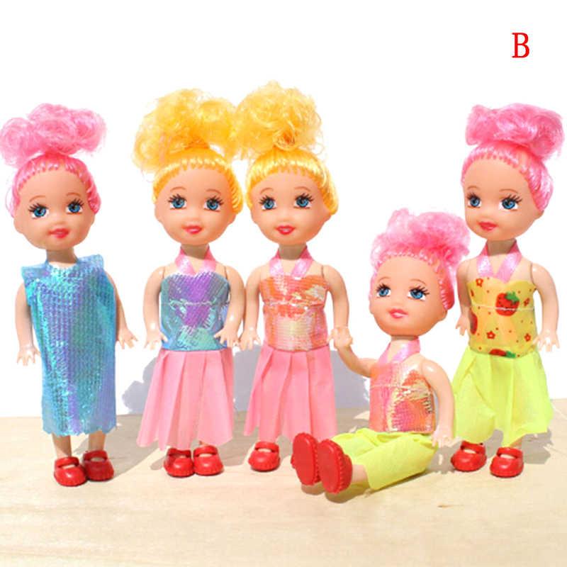 1 pc Pouco Kelly Boneca Brinquedos Da Moda Princesa Dos Desenhos Animados Bonecas Irmã Kelly Bonecas Brinquedos Mini Boneca para a Menina do Aniversário Dos Miúdos brinquedos de presente