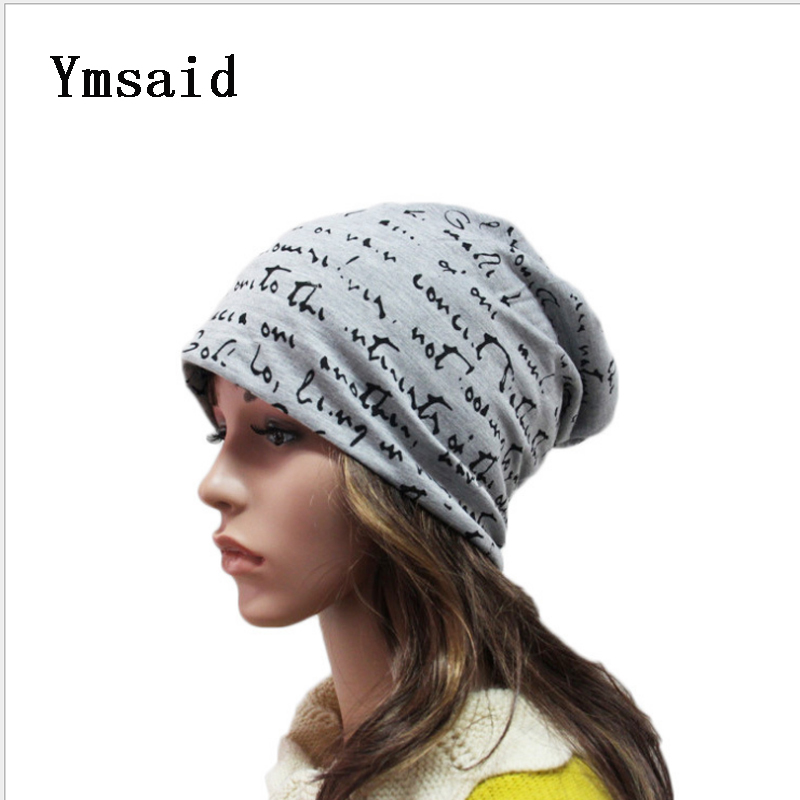 Letter Print Autumn Winter Hats For Women Men Hip Hop Beanies Skullies Unisex Men Cap Spring Warm Ladies Thin Knitted Hat Girl 2016 limited gorro gorros brand new women s cotton hip hop ring warm beanie cap winter autumn knitted hats beanies free shipping