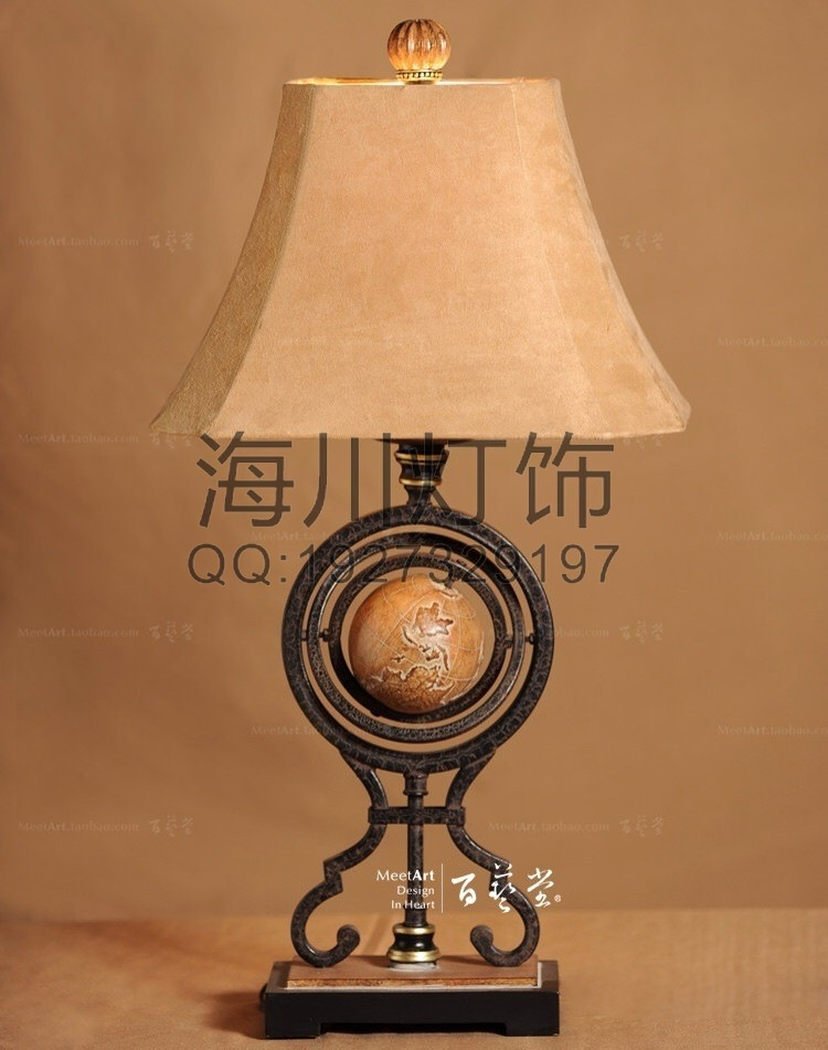 Manufacturers Custom Wrought Iron Table Lamp Classical Elegance Resin Lamp