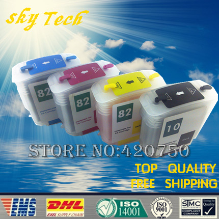 4PK Full Ink Refillable cartridge suit for HP10 (565A) HP82 ,Suit for HP Designjet 510 Printer , With ARC Chip