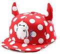 2016 последние детская вс hat Мода волновой точки вдоль рога мягкий мультфильм шапочка Хип-Хоп шляпа