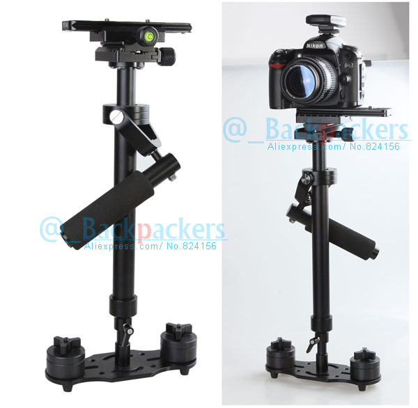 Tripod Head Camera Video Hand Held Stabilizer DV steady cam for canon nikon sony DSLR 5D2 5D3 60D 70D GH3 GH2 professional dv camera crane jib 3m 6m 19 ft square for video camera filming with 2 axis motorized head