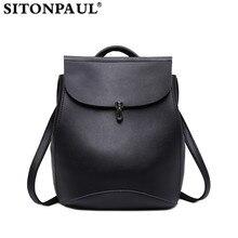Sitonpaul элегантный дизайн школьный рюкзак модные женские туфли рюкзак для девочки черный рюкзак женский девушка мешок Дизайн Леди Черный Рюкзак