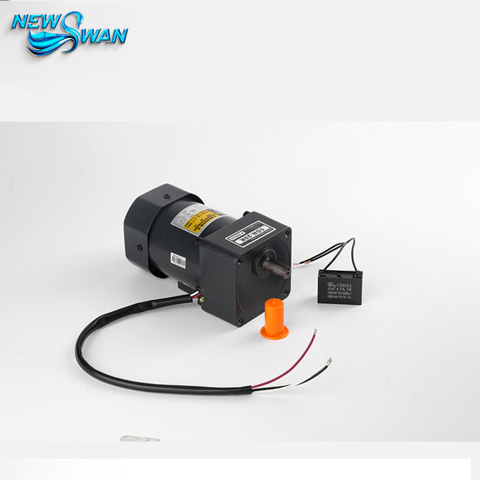 60W 90mm The Reversible Motor AC Reversible Motor Micro AC Gear Motor Ratio 100:1 60w ac reversible motor 5rk60gu cf with gear ratio 90 1 output speed is 15 r m gear head 5rgu 90k
