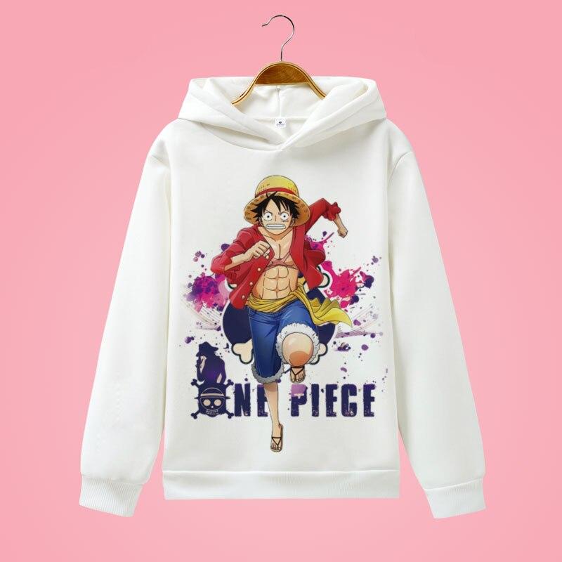 One Piece Cartoon Print Women Kpop Hoodie Harajuku Sweatshirt Cap And One Piece Hoodies Men Hip Hop Streetwear H009