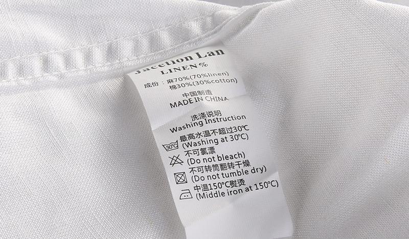 Brand Shirt Men Casual Slim Fit Designer Meeste särk Pikkade - Meeste riided - Foto 6