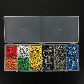 800pcs Wire Copper Crimp Connector Insulated Cord Pin End Terminal 800pcs cable bootlace copper ferrules kit set wire electrical crimp connector insulated cord pin end terminal hand repair kit