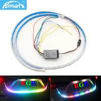 RONAN Multicolor RGB Rear Trunk Tail Box Light Dynamic Streamer Brake Turn Signal Warning LED Strip