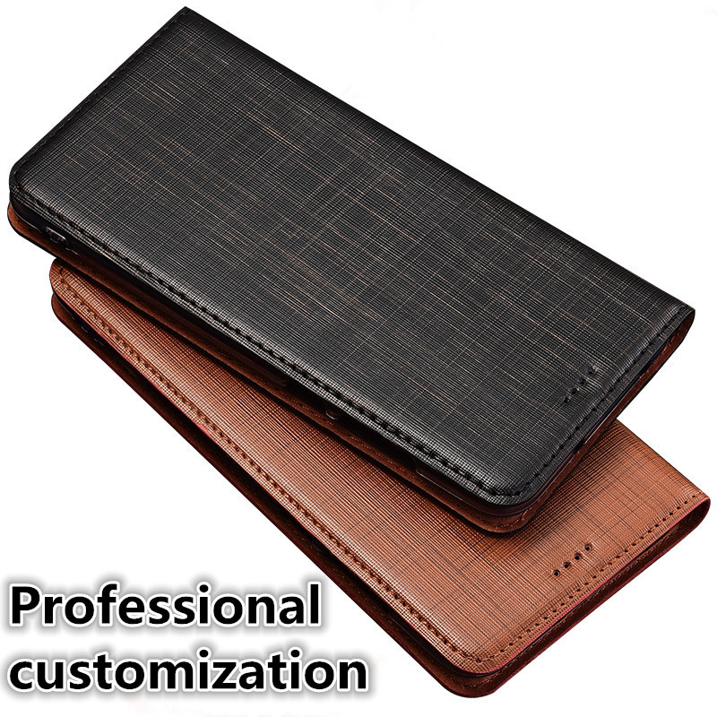 YM02 Genuine Leather Flip Phone Bag For font b OnePlus b font font b 7 b