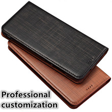 YM02 Genuine Leather Flip Phone Bag For OnePlus 7 Pro(6.67′) Phone Case For OnePlus 7 Pro Case With Card Slot Free Shipping