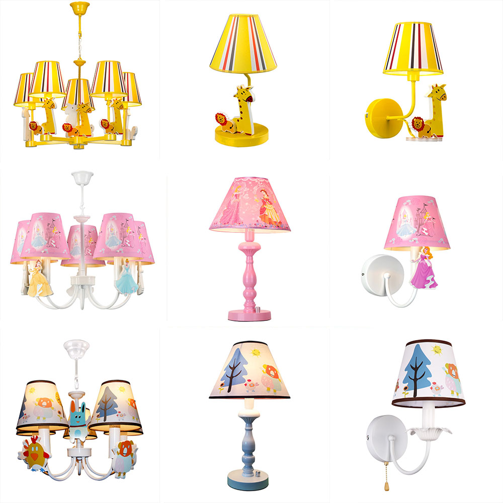 HGhomeart kids room led chandelier Led E27 Cartoon boy girl 5 lights chandeliers for the bedroom home chandelier lighting Lamp wrought iron chandelier aircraft lamp boy children master bedroom room led chandeliers creative cartoon