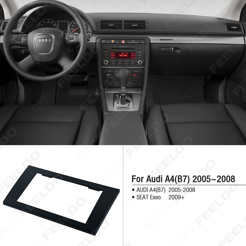 feeldo car 2din radio stereo fascia trim panel frame installation