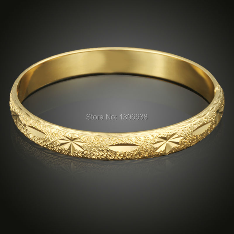 2018 Vintage Gold Color Bangle & Bracelet with Copper Material For Party Engagement Anniversary Jewelry