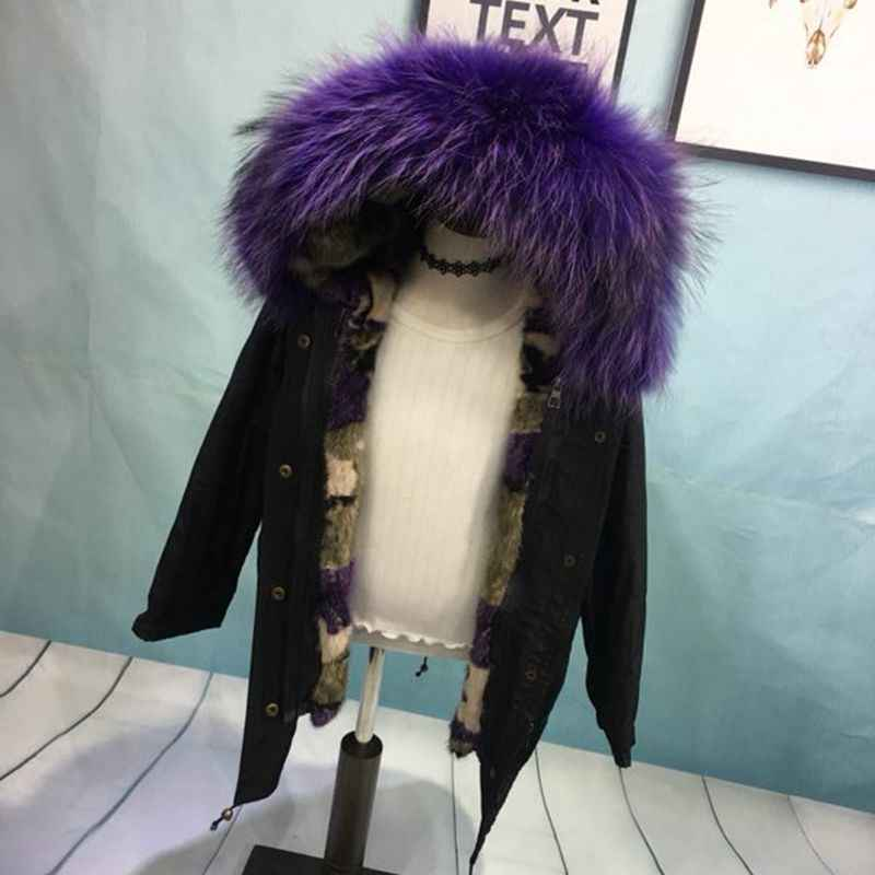 d2fd402b997fd ... Boys Girls Fur Jacket Children Mink Liner Coat Real Raccoon Fur Hooded Girls  Jacket Winter Warm