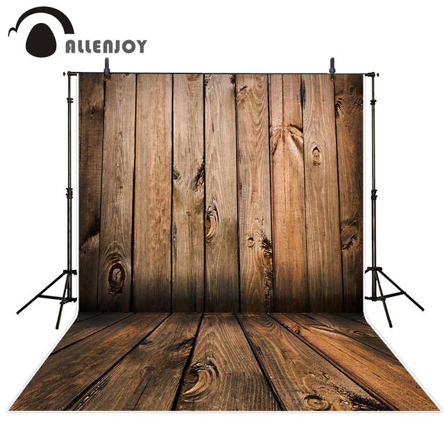 Allenjoy Photo Backdrop Coffee Color Wood Three Dimensional Backgrounds Original Design Customize Photobooth