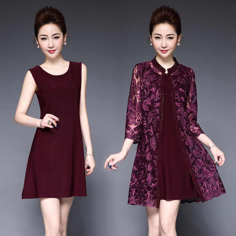 Wmwmnu женское элегантное винтажное платье с вышивкой Hight gade, 2 предмета, повседневные платья для вечеринок, облегающее платье с бриллиантами размера плюс 6XL