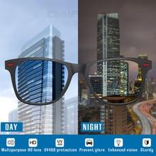 Brand Square Photochromic Day Night Vision Sunglasses Men Women Polarized Chameleon Driving Sun Glasses Male oculos gafas de sol цены