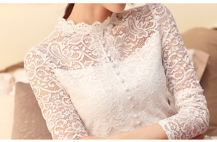 Lace Blouses Long Lace Sleeves - My Blouses