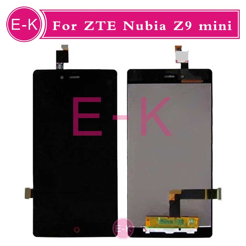 DHL 10Pcs High quality 5.0 For ZTE Nubia Z9 mini NX511J LCD Display + Touch Screen Digitizer Assembly Replacement Free shipping