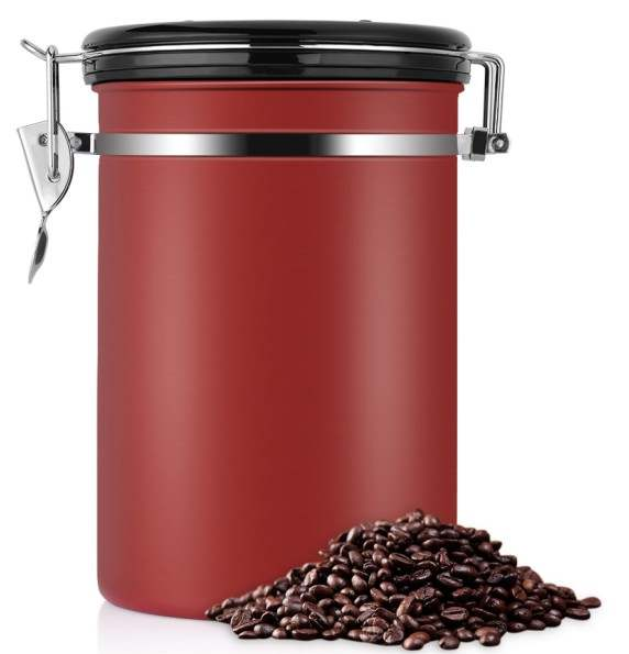 US $19.72 47% OFF Stainless Steel Airtight Coffee Container Kitchen Storage  Jar Storage Canister Coffee Bean Seal Vacuum Sotrage Jar Bottles-in ...
