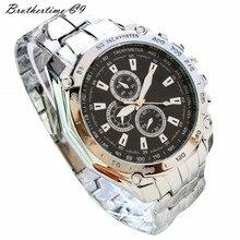 Relogio Feminino New  Three Eyes Six Steel Needle Fashion Men's  Business Watch Relojes Mujer Montre Clock