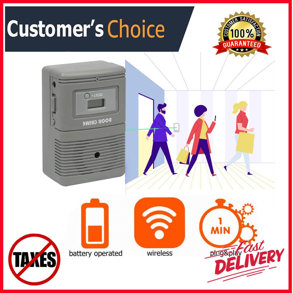 People  Counter Simple Football Counter For Retail Shop& Office With Visitor Chime Greetings Function People Alarm System