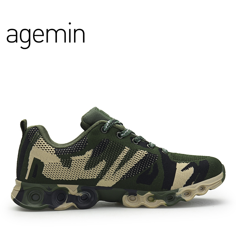 Agemin Summer Fly Weave Camouflage slip on shoes men high quality - Men's Shoes - Photo 5