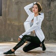 Women Tracksuit Yoga Set Loose Sports Jacket Sweatshirt Bra Tights Harem Pants Gym Fitness Running Jog Sportswear
