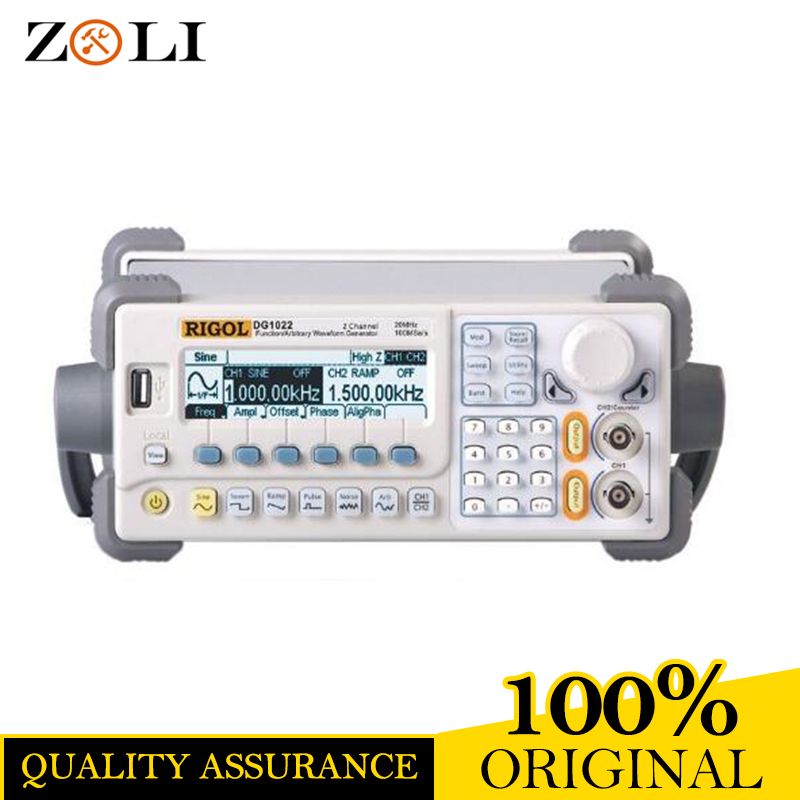 Orginal RIGOL DG1022U Signal Generator 2 Channel 25 MHz Arbitrary Waveform Signal Generator Analyzer 2018 hot new rigol dg4102 signal arbitrary waveform generator awg 100mhz 2 channel 7inch lcd display